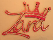 Bling painted wooden names
